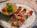 Chicken Kebabs with Mango Salsa