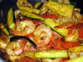 Stir-Fry Curried Prawns And Vegetables