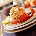 Prawn and Rice stuffed Tomatoes for One
