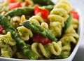 Chicken and Asparagus Penne with Basil Pesto